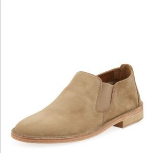 Vince  mia flat suede slip-on, taupe size 8.5